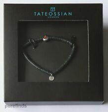 TATEOSSIAN LONDON BLACK BEADS NUMBER 6 SILVER 925 BRACELET 16 cm CF BNIB