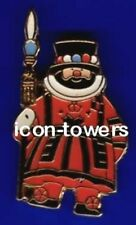 Tower of London BEEFEATER |  Souvenir Enamel Badge | Butterfly Pin Fixing