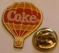 HOT AIR BALLOON COKE vintage Pin Badge