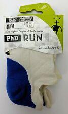 Smartwool PhD Run Unisex Socks Men 6-8.5/Women 7-9.5 White/Bright Blue
