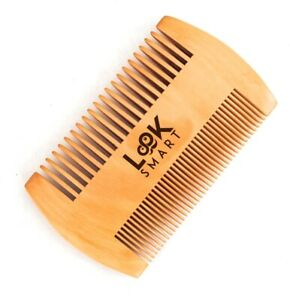 Look Smart-Gentleman Fine Teeth Beard Moustache Grooming Handmade Pear wood Comb