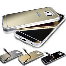 Ultra fin Doux Miroir Métallique Vue étui de téléPhone pour Samsung S8 S8+ S7 S7