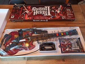 Guitar Hero 2 - Jeu Playstation 2 - pack complet jeu + guitare