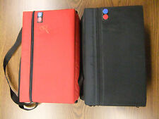 Cassette Tape Case LOT Red & Black Holds 30 Nylon Tote W/Strap Vintage 1980's