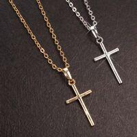 1pc Chic Fashion Women Men Cross Pendant Necklace Chain Jewelry