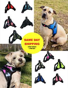 Dog Pet Harness, No Pull, Mesh Adjustable Control Handle, Small Medium Large XL