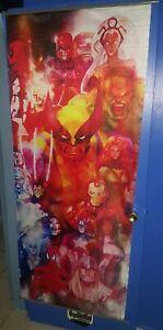 "MARVEL comics BIG wall scroll 69x29"" DeadPool , Ironman , Spider-Man , Thor"
