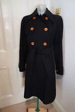 Dolce Gabbana Lana Nero & Trench Coat taglia 42/UK 10