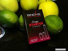 SNOKE E-Zigar STARTER SET Energy mit Nikotin, USB, Akku, 1x Cap, Zigarette, NEU