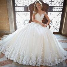 Wedding Dress Vestido De Novia Pink/White/Ivory Lace Bridal Gown Strap Custom