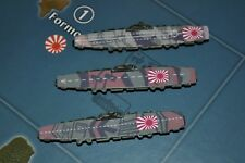 Axis & Allies Parts/Pieces (3) Custom Painted Japanese Carriers