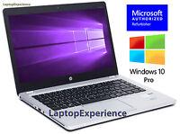 HP LAPTOP FOLIO 9470m i7 2.1GHz 8GB 160GB SSD WIN 10 PRO WEBCAM WiFi NOTEBOOK PC