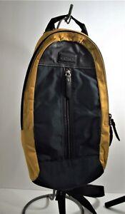 Coach Varick Colorblock sling yellow/navy bag  F70834