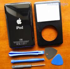 """""""nuevo"""" iPod Clásico 7 gris \ negro delantero caso + Kit de reemplazo de la cubierta posterior delgada"""