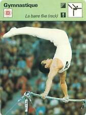 FICHE CARD: Barre fixe (reck) Horizontal bar (high bar)  Gymnastics 1970s