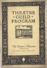 1928 Theatre Guild Program DOCTOR'S DILEMMA  Alfred Lunt & Lynn Fontaine