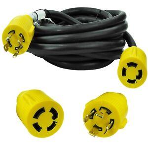Leisure Cords NEMA L14-30 4 Prong Locking 30 Amp Generator Extension Cord, 25 ft