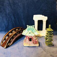 New listing 4 Vintage Fish Tank Ornaments Japan Aquarium Decorations nice Lot