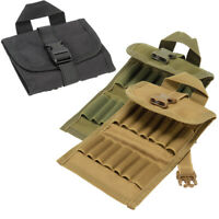 Hunting Cartridge Pouch Bag Wallet Bullet Case Shells Rifle for 14 bullets