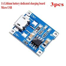 3pcs TP4056 1A Li-ion BMS Lithium Battery Charge  Micro USB Interface Board