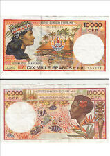 Billet banque FRENCH PACIFIC TAHITI POLYNESIE OUTRE-MER 10000 F A.002 671