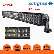 "42""inch 240W LED Work Light Bar Combo Offroad 4WD UTE For Jeep Truck 4D+ Optical"