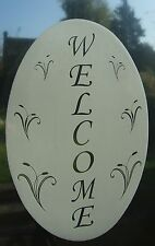 """Etched Glass Look WELCOME SIGN Window Decoration 8x12"""""""