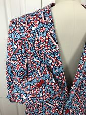NWT SUSLO COUTURE BLUE CANDY CANE STRETCH COMFORT HOLIDAY BLAZER SLIM FIT  M-40