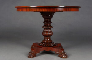 Antique Late Biedermeier Mahogany Table Um 19. Century