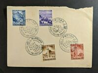1941 Germany Cover with 4 Cancels Tettau Veldes Marburg Pettau