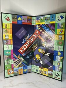 2008 The SIMPSONS MONOPOLY Parts Replacement - GAME BOARD Simpsons Locations