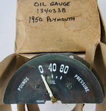 1950 Plymouth NOS MOPAR Oil Pressure Gauge