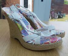 Sandals Espadrille Wedges White Size 4