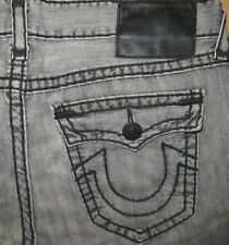 Original TRUE RELIGION Jeans RICKY Super T Relaxed Straight grey W 36/34 grau