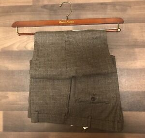 OXXFORD CLOTHES MAHOGANY WOOD BRASS LUXURY DRESS TROUSER PANTS HANGERS