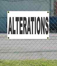 2x3 ALTERATIONS Black & White Banner Sign NEW