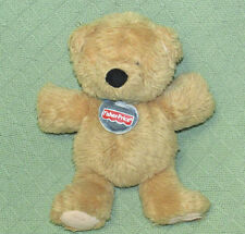 "Fisher Price 2003 TEDDY BEAR Plush Stuffed Tan SOft Cuddly 11"" Hang Tag Collar"