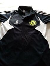 Adidas Chelsea F.C Champions League Black Polo Shirt Mens S