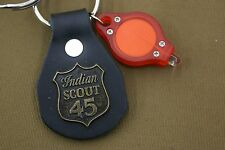 INDIAN MOTORCYCLES GENUINE NOS LEATHER KEY CHAIN FOB CHIEF SCOUT 45 FOUR # 006