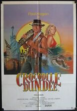 Crocodile Dundee (1986) Australian One Sheet PAUL HOGAN