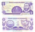 Nicaragua 1 Centavo 1991 P-167 Banknotes UNC