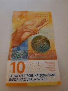 10 Schweizer Franken Banknote NEUESTE SERIE Schweiz CHF Schein