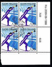Finland 1989 Used - World Ski Championships - Winter Sport - Block of Four