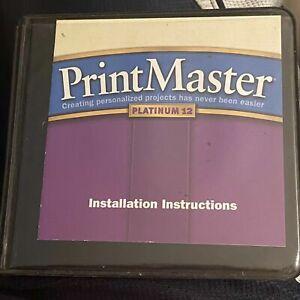 Printmaster Platinum 12 - 7 CDs  Broderbund Art Photo Vintage Software (2002)