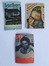 Vintage Dollhouse Miniature 3 Magazines Newsweek Life Better Homes Gardens