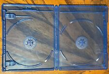 30 SOLID DOUBLE Blu-ray Replacement Cases with LOGO 12mm 2-Disc W Logo RECYCLED