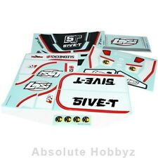 Losi 5IVE-T Sticker&Graphic Sheet Set: Black - LOSB8255