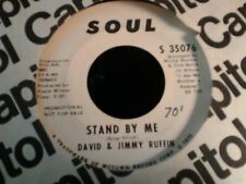 """David & Jimmy Ruffin Stand by Me soul Promo doowop northern soul 7"""" 45"""