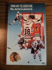 1988 - 1989 Chicago Blackhawks NHL Hockey Media Guide Yearbook Record Book