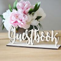 Guest Book Mdf 10cm Wooden Letters Freestanding Sign Gift Wedding Decor Birthday